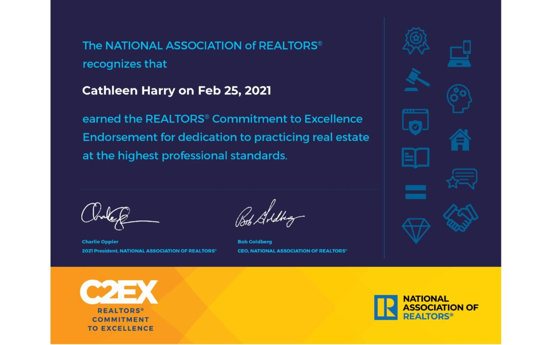 Cathy Harry Earns NAR Commitment to Excellence Endorsement